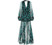 Bedrucktes Kleid Olivia aus Seide