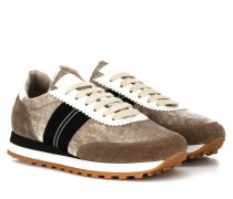 Sneakers aus Veloursleder und Samt