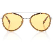 Verzierte Aviator-Sonnenbrille
