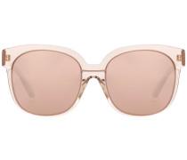 Oversize-Sonnenbrille mit rosévergoldeten Gläsern