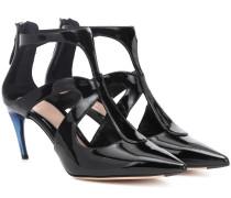 Alexander McQueen Ankle Boots aus Lackleder