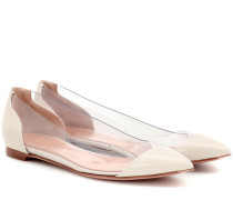 Ballerinas Plexi aus Lackleder
