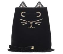 Bucket-Bag Feline aus Samt