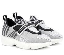 Sneakers Cloudbust aus Metallic-Material