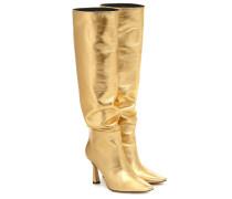 Stiefel Lina aus Metallic-Leder