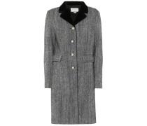 Verzierter Mantel aus Wolle