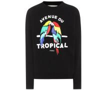 Bedrucktes Sweatshirt Tropical aus Baumwolle