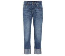 Mid-Rise Jeans The Cropped Raw Edge