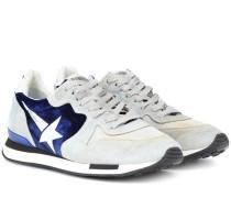 Sneakers Running aus Veloursleder