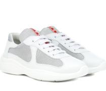 Sneakers mit Leder