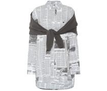 Bedruckte Bluse mit Baumwollanteil