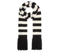 Gestreifter Schal aus Wolle und Mohair
