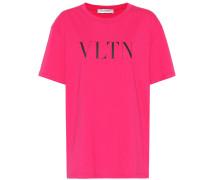 Bedrucktes T-Shirt VLTN aus Baumwolle