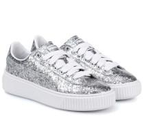 Sneakers Basket Platform Glitter