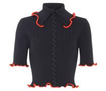 Kurzer Pullover Criss Cross aus Rippstrick