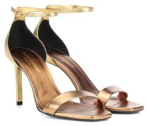 Sandalen Amber 85 aus Metallic-Leder
