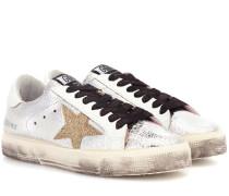 Sneakers May aus Metallic-Leder