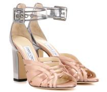 Sandalen Tristen 100 aus Satin und Leder