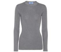 Pullover mit Wollanteil und Metallic-Fäden