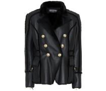 Verzierte Jacke aus Leder und Fell