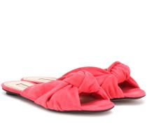 Pantoletten Betsy aus Veloursleder