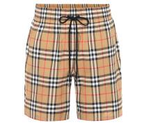 Karierte Shorts aus Baumwolle