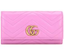 Portemonnaie GG Marmont aus gestepptem Leder
