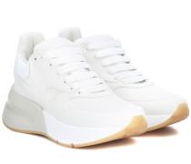 Alexander McQueen Plateau-Sneakers mit Leder