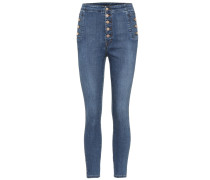 High-Rise Cropped Jeans Natasha