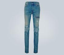 Distressed Straight Jeans MX1
