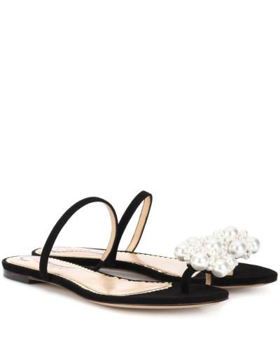 Sneakernews Verkauf Online Um Online-Verkauf Charlotte Olympia Damen Verzierte Sandalen aus Veloursleder Ebay Verkauf Online yUmkOfdu