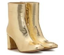Ankle Boots Agnes aus Metallic-Leder