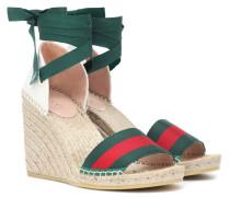 Espadrille-Sandalen aus Canvas