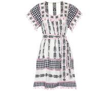 Besticktes Minikleid aus Baumwolle