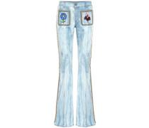Verzierte Flared Jeans