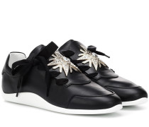 Sneakers Sporty Viv' Star Strass aus Leder