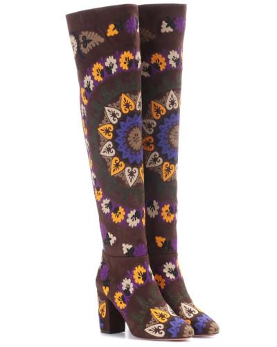 Overknee-Stiefel Biba 85 aus Veloursleder