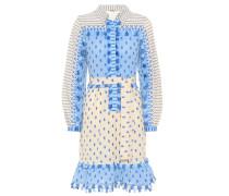 Verziertes Hemdblusenkleid aus Baumwolle