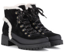 Ankle Boots Cooper aus Veloursleder mit Shearling