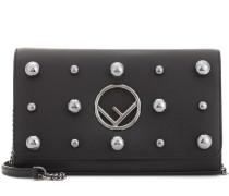 Schultertasche Wallet on Chain aus Leder