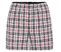 Karierte Shorts aus Tweed