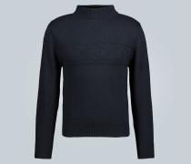 Rautenstrick-Pullover aus Baumwolle