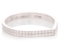 Ring Antifer aus 18kt Weißgold mit Diamanten