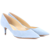 Kittenheel-Pumps aus Veloursleder