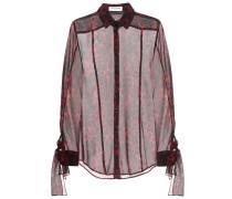 Semi-transparente Bluse aus Seide