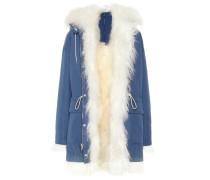 Mantel aus Baumwolle mit Shearling