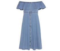 Off-Shoulder-Kleid aus Baumwoll-Denim