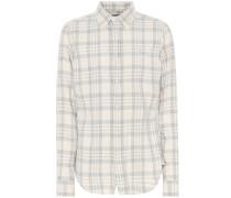 Kariertes Hemd aus Baumwoll-Flanell