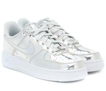 Sneakers Air Force 1 aus Metallic-Leder