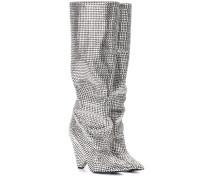 Stiefel mit Swarovski-Kristallen